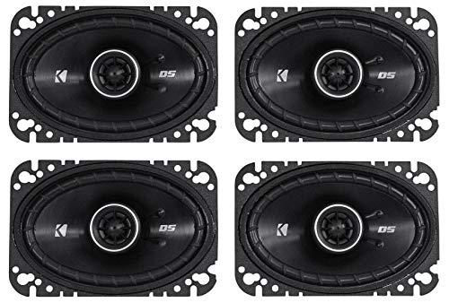 KICKER 4 41DSC4604 D-Series 4x6 Inch 240 Watt 4-Ohm 2-Way Car Coaxial Speakers