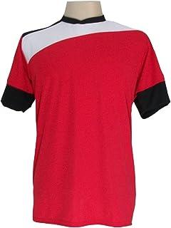 4173b32a0ae75 Jogo de Camisa com 14 unidades modelo Sporting Vermelho Branco Preto + 1  Goleiro