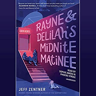 Rayne & Delilah's Midnite Matinee                   By:                                                                                                                                 Jeff Zentner                               Narrated by:                                                                                                                                 Sophie Amoss,                                                                                        Phoebe Strole                      Length: 10 hrs and 20 mins     22 ratings     Overall 4.6
