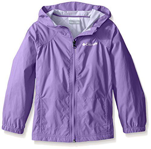 Columbia Big Girl's Switchback Rain Jacket, Grape Gum, XL