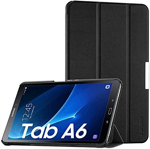 EasyAcc Cover Custodia per Samsung Galaxy Tab A 10.1, Ultra Sottile Smart Cover in Pelle con Sonno/Sveglia la Funzione Compatibile per Samsung Galaxy Tab A 10.1 (2016) SM-T580 / T585 - Nero