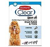 Bob Martin Clear Flea & Tick Fipronil Spot On for Medium Dog, 3 Tubes