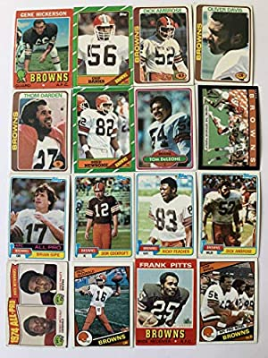 1970'S-1980's Topps Cleveland Browns Football Cards