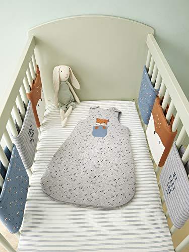 Vertbaudet Polster für Babybett-Gitterstäbe,Baby Fox Mehrfarbig ONE Size
