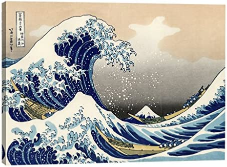 Eliteart The Great Wave Off Kanagawa Oil Painting Reproduction Giclee Wall Art Canvas Prints product image