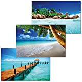 GREAT ART 3er Set XXL Poster – Urlaub Traumorte –