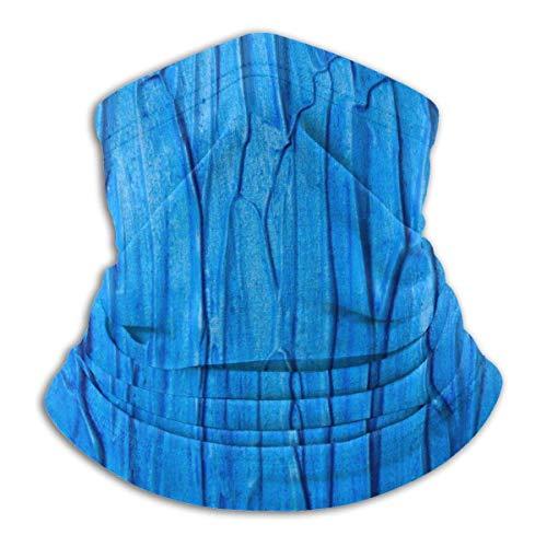 LREFON Pañuelo con Textura de Limo Azul para el Cuello, Calentador de Cuello, pasamontañas para Hombres, Mujeres, protección contra el Polvo del Viento y el Sol