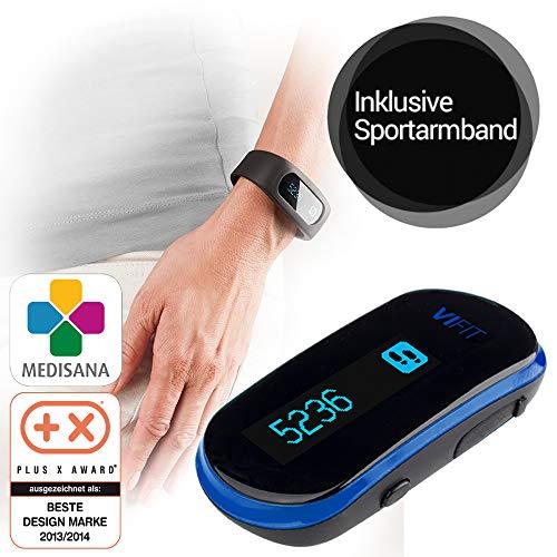 Medisana SL 400 Fitnesstracker mit Armband, Aktivitätstracker, Schrittzähler, Kalorienverbrauch, Schlaftracker, Bewegungsziel mit VitaDock+ Analyse App