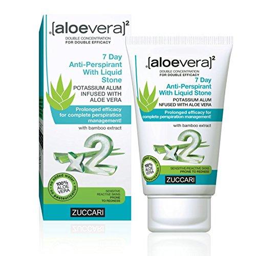 Zuccari [aloevera]²–crema deodorante con cristallo di allume, 7 giorni, confezione da 1 (1x...