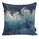 Houlipeng Ocean Waves ibd Funny Square Throw Pillow Cases Cushion Cover for Bedroom Living Room Decorative 45x45 cm