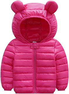 Toddler Padded Parka Coat,Leegor Chlidren Boys Girl Winter Coats Jacket Kids ZipThick Ears Cartoon Hoodie Clothes