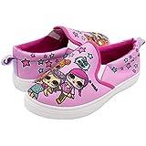 L.O.L. Surprise! Girls Slip-On Canvas Sneaker; Pink Size 12