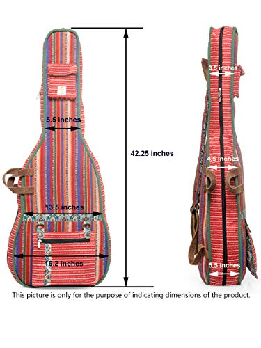 The-House-of-Tara-Red-White-Patterned-Handloom-Fabric-Guitar-Bag-Case-for-Men-and-Women