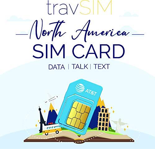 travSIM USA SIM Karte (AT&T SIM Karte) Gültig für 10 Tage - Unbegrenzte* 3G 4G LTE - Mobile Daten - Vereinigte Staaten AT&T US SIM Karte (Funktioniert auch in Kanada und Mexiko)