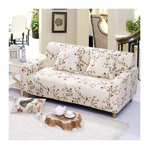 WUFANGFF Slipcover Modello di Fiore Rosso Stretch Sofa Tessuto in Fibra Chimica Fodera Divano Copridivano Sofa Furniture Protector, 4seat