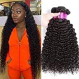 10A Brazilian Kinky Curly Bundles 100% Virgin Jerry Curl Human Hair Bundles Remy Wet and Wavy Human Hair Weave Bundles (12 14 16)