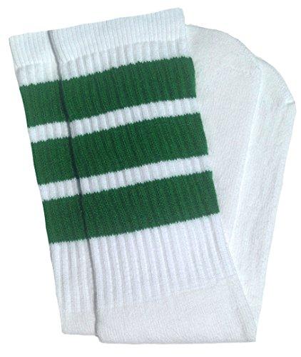 skatersocks 25 Inch Tube Socken Kniestrümpfe oldschool Sportsocken weiß grün Skater Socken