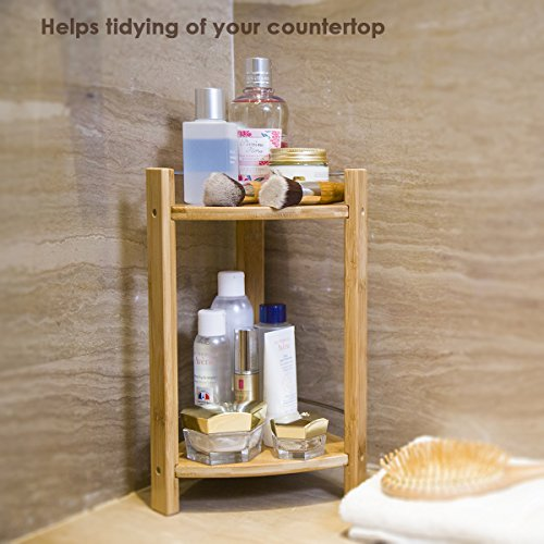 GOBAM Shower Caddy Bathroom Caddy Organizer for Shampoo, Conditioner, Lotion, Soap, Natural Bamboo