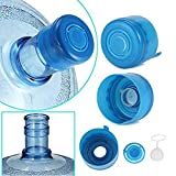 Applicable to 18.9 litres of water bucket, Inner caps design turn the non-spill caps into reusable and replacement; say no to lots of disposable water caps Not for use with screw top bottle, Please check product images to see the bottle these will fi...
