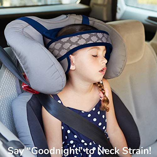 NapUp Child Head Support for Car Seats – Safe, Comfortable Support Solution (Dark Blue)