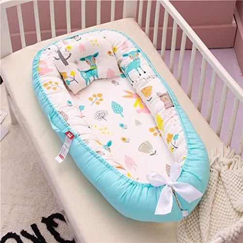 DYCDQMJC Baby Nest - Cama portátil de algodón para recién nacido, colchón biónico antipresión, para coaxiar al bebé a dormir