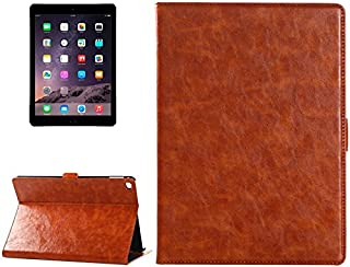 LFPING New Oil Skin Crazy Horse Texture Leather Case with Holder & Card Slots & Money Pocket for iPad Air 2 (Color : Brown)