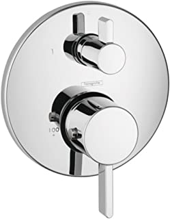 Hansgrohe 04230000 S Thermostatic Trim With Volume Control with Glory Glaze Cleaner Polish, Chrome