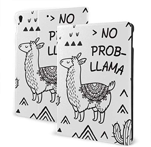 New York Map Letters Case for IPad Air 3rd Gen 10.5' 2019 / IPad Pro 10.5' 2017 Multi-Angle Folio Stand Auto Sleep/Wake for IPad 10.5 Inch Tablet-No Prob Llama-One Size