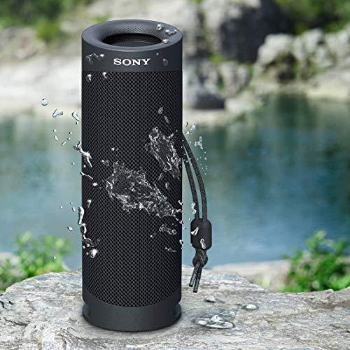 ソニーワイヤレスポータブルスピーカーSRS-XB23:防水/防塵/防錆/Bluetooth/重低音モデル/マイク付き/最大12時間連続再生2020年モデル/ブラックSRS-XB23B