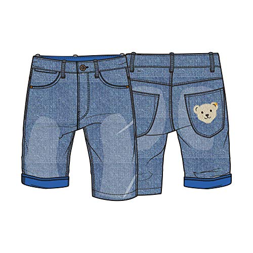 Steiff Jungen Jeans Shorts, Blau (Riviera 6015), 86