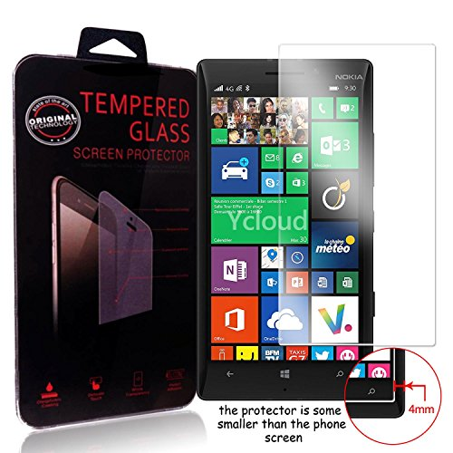 Ycloud Panzerglas Folie Schutzfolie Bildschirmschutzfolie für Microsoft Lumia 930 screen protector mit Festigkeitgrad 9H, 0,26mm Ultra-Dünn, Abger&ete Kanten
