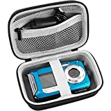 Digital Camera Case Compatible with YISENCE/ AbergBest 21 Mega Pixels 2.7' LCD Rechargeable HD/ Canon PowerShot ELPH 180 190 / Sony DSCW800 DSCW830 / Kodak PIXPRO Digital Camera with SD Card and Cable