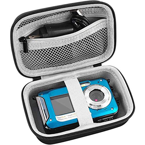"""Digital Camera Case Compatible with YISENCE/ AbergBest 21 Mega Pixels 2.7"""" LCD Rechargeable HD/ Canon PowerShot ELPH 180 190/ Sony DSCW800 DSCW830/ Kodak PIXPRO Digital Camera with SD Card and Cable"""
