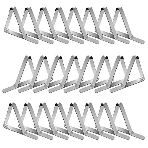 Tablecloth Clips Picnic Table Clips: 24 Packs Flexible Stainless Steel Table Cloth Cover Clamps | Table Cloth Holders Clip