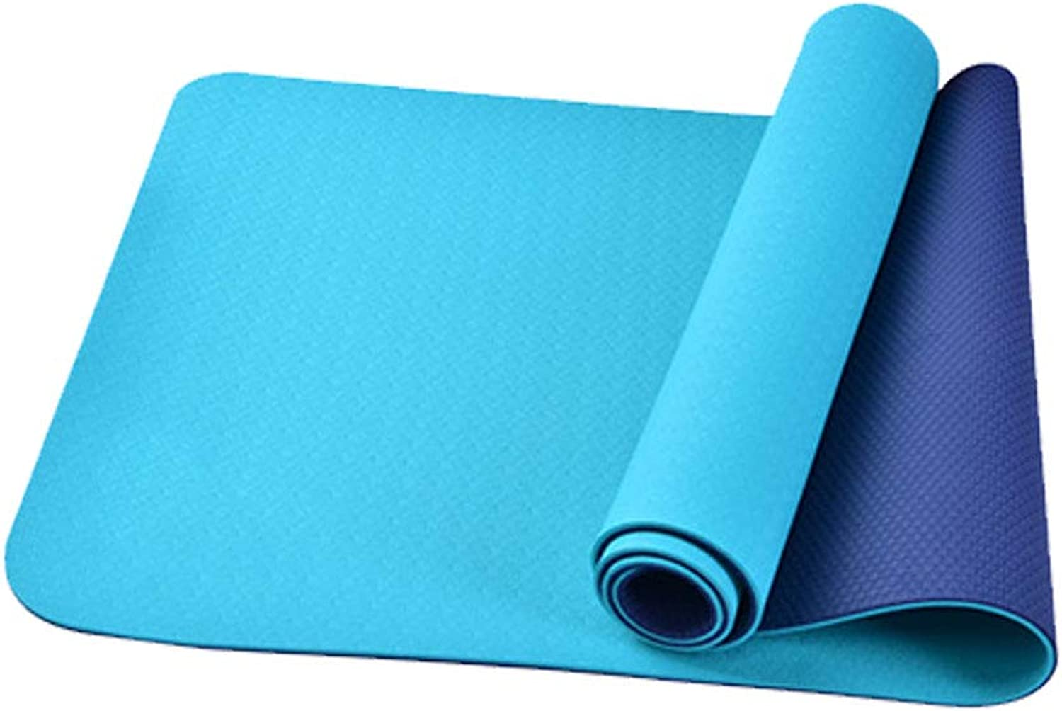 Yoga Mat Non-Slip High Elastic Eco-Friendly Material TPE Suitable for Beginners Fitness Camping Thickness 6 mm
