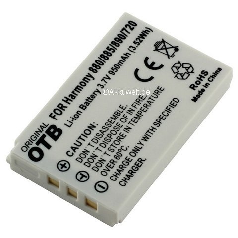 Ersatzakku für Logitech Harmony 720 785 880 885 890 895 900 One Accu Batterie Battery Bateria