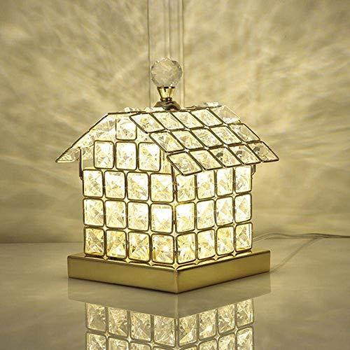 Damai Salon, Décoration, Cadeau, Lampe De Bureau LED en Cristal Doré À La Mode Européenne Et Européenne, Veilleuse À LED, avec Corps De Lampe Design Complet pour Maison en Cristal K9