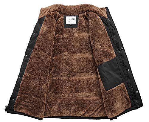 CROYEE Men's Winter Puffer Vest Quilted Soft Fur Lining Sleeveless Vest Jacket