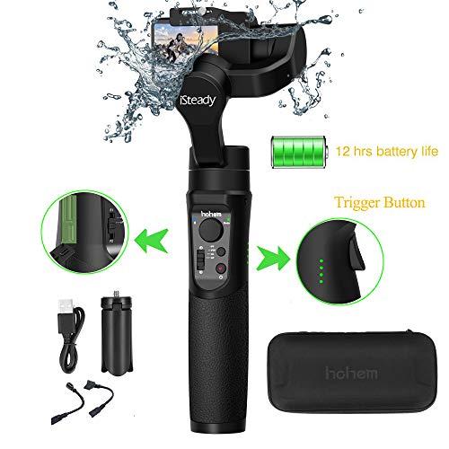 Hohem iSteady Pro 2 Action Kameras Gimbal Handheld Gimbal Stabilisator 3 Achsen Splash Proof kompatibel mit DJI Osmo Action,GoPro 2018 7/6/5/4/3, RX0, AEE, SJCAM, YI-CAM, Zeitraffer, 12 Stunden