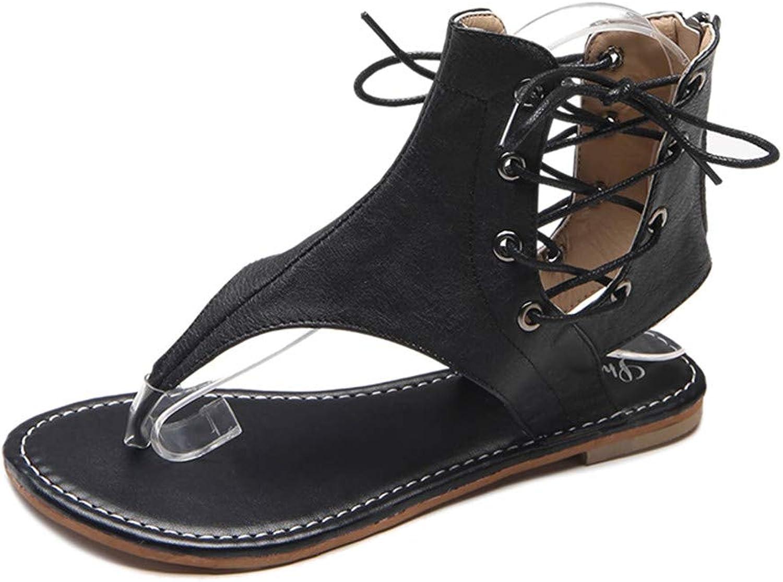 Zipong Women Sandals Vintage Summer Women shoes Gladiator Sandals Flip-Flops for Women Beach shoes