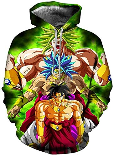 Sudadera con capucha 3D unisex Sudadera con capucha Sudadera con capucha Dragon Ball Z Goku Hombres Mujeres Moda Moda Casual Sudaderas con capucha con grandes bolsillos (Color : 9, Size : M)