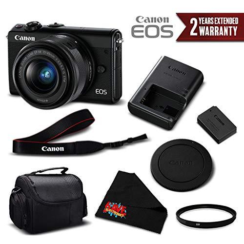 Canon EOS M100 Mirrorless Digital Camera with 15-45mm Lens (Black) 2209C011 International Version - Essential Bundle