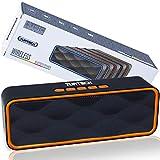 Altavoz portátil Bluetooth 5.0 TUATECH, 12 vatios, Altavoz Bluetooth con micrófono, USB, Tarjeta TF, AUX, Radio, alimentación estéreo. Altavoz para Smartphone, Dura 9 Horas, Batería 1200mah, Naranja