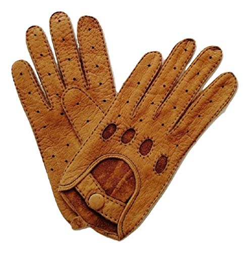 Weikert-Handschuhe Autohandschuhe aus echtem Peccary Leder, Unisex (7, Natur)