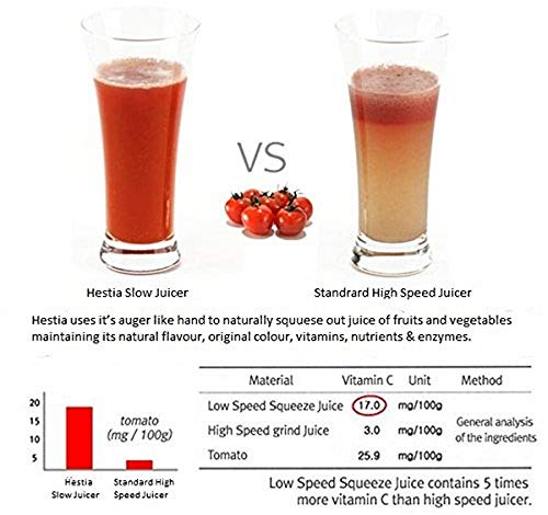 Hestia Appliances Nutri-Max Cold Press Juicer (Wine Red)