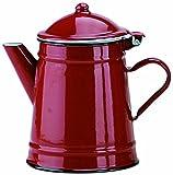 Ibili 910250 Konische Kaffeemaschine, emaillierter Stahl, rot, 0,5 L