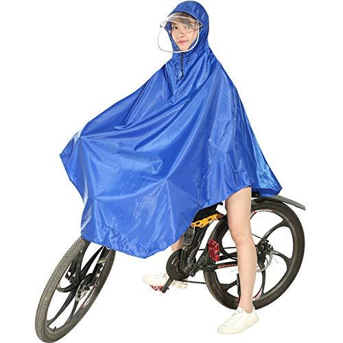 MSYL Imperméable de vélo électrique Adulte Hommes et Femmes Cyclisme VTT Poncho vélo imperméable Unique Bleu