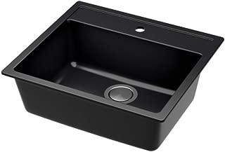 IKEA 391.576.41 Hällviken Sink, Black, Quartz Composite