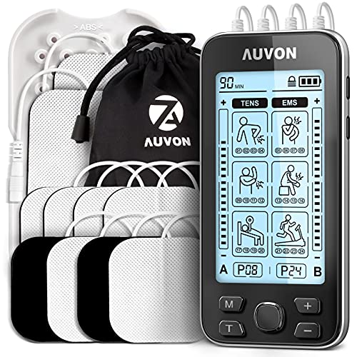 AUVON 4 Outputs TENS Unit EMS Muscle...