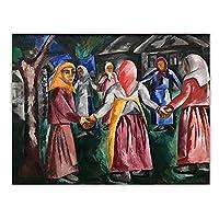 Mmpcpdd ナタリアゴンチャロワキャンバス油絵アートワークポスター装飾絵壁の装飾家のリビングルームの装飾-60X80Cmx1フレームなし